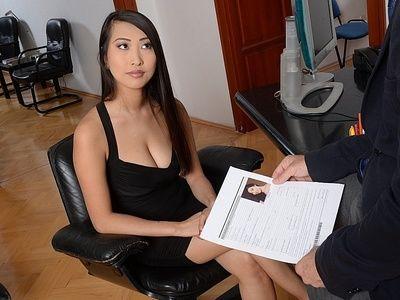 scuro Capelli Asiatico hottie Sharon lee Fa sicuro lei è il Più Auspicabile durante intervista