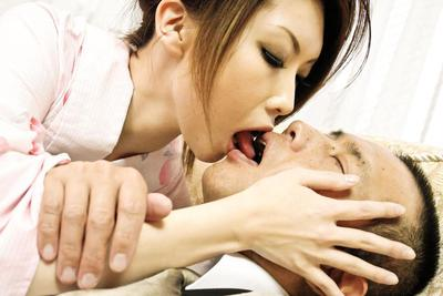 Asian hottie Rinka Kanzaki has nasty group sex and gets plastered with cum shots