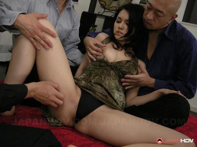 Asian chick with bushy pussy Maria Ozawa gets pounded with fingers and toy