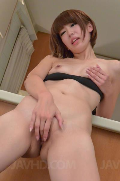 Tight ass babe Seira Matsuoka enjoys in getting her pussy stimulated by a vibrator
