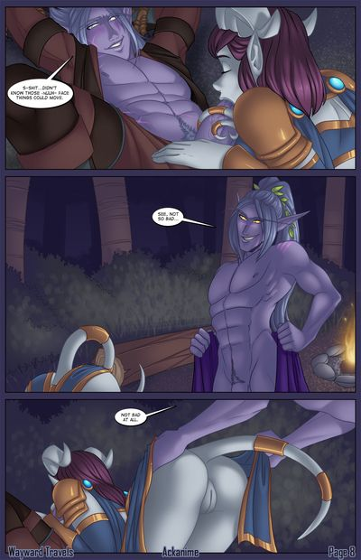 In the World of Warcraft night elfs are very horny