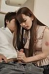 Asian babe with hairy pussy Yui Hatano is riding and swallowing the piston