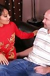 Asian masseuse Asa Akira squeezes the dick in hands and also between the mouth lips
