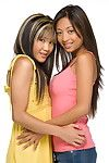 Asian babes Kina Kai and Alexis Love are sharing the hot passionate kisses