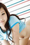 Seductive asian babe Suzuka Ishikawa slipping off her clothes