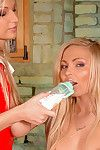Admirable chick Jenna Lovely with appetizing butt is licking her ladies shaved cunt