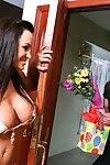 In pussy and in mouth does this busty milf Lisa Ann take the throbbing pecker
