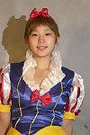 Sevimli Asya İlk zamanlayıcı Ai azat Güzel teen Boobs Gelen cosplay kıyafet