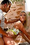Full hardcore scene in outdoor porn session along naughty blonde