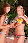 As was born and pleasant teen Zuzana Z with extreme rectal hole is satisfying her sexually excited woman-on-woman outdoors