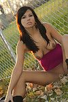 Gorgoues young babe feels passionate and in have to play solo