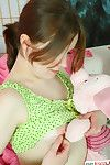 Shy Angela feels awesome by gently control her rigid slit with a stiff toy