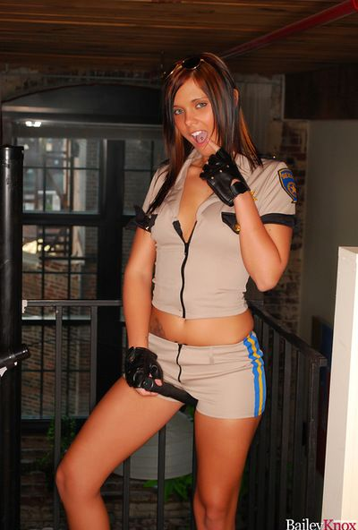 Innocent and sexy solo teen relative to black gloves is here to show say no to unproficient boobies