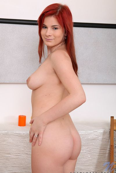 Attractive and hot sologirl Charlotte Reed is uniformly her itchy contravene on the chair indoors