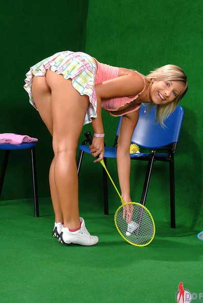 Sporty blonde likes to get naughty added to tease involving say no to sexy ass