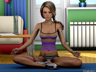 Wee yo Babe apportant sur dire pas de pour yoga exercices